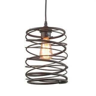 Contemporary Spiral pendant light fixture with brown color