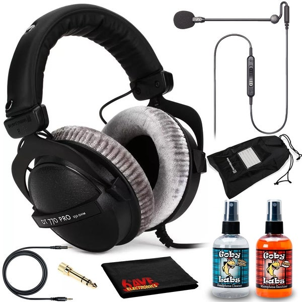 Beyerdynamic DT 770 PRO 250 Headphones Kit + Antlion Audio ModMic Uni. Opens flyout.