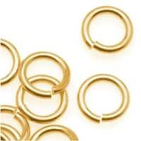 Brass JUMPLOCK Jump Rings 8mm Diameter 16 Gauge Thick (50)