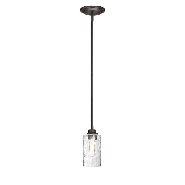 Designers Fountain 87130 Gramercy Park 1-Light Pendant with Blown Hammered Glass Shade