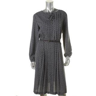 Jones New York Womens Charmeuse Polka Dot Wear to Work Dress - 12