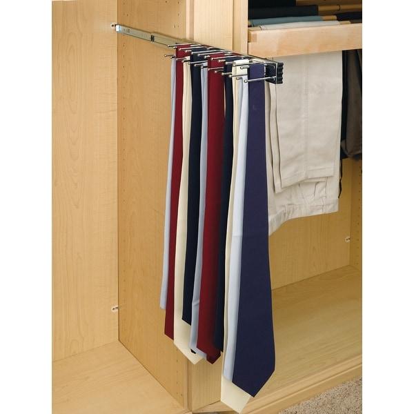 "Rev-A-Shelf TRC-12 TRC Series 12"" Side Mount Sliding Tie Rack for Up"