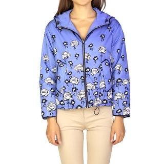 Prada Women's Nylon Floral Print Jacket Blue - 42