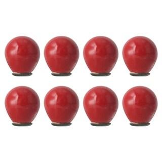 8pcs Ceramic Knobs Vintage Knob Drawer Round Puller Handle Furniture Cabinet Cupboard Wardrobe Dresser Decorative, Red
