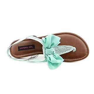 Material Girl Womens Skylar Fabric Open Toe Casual T-Strap Sandals