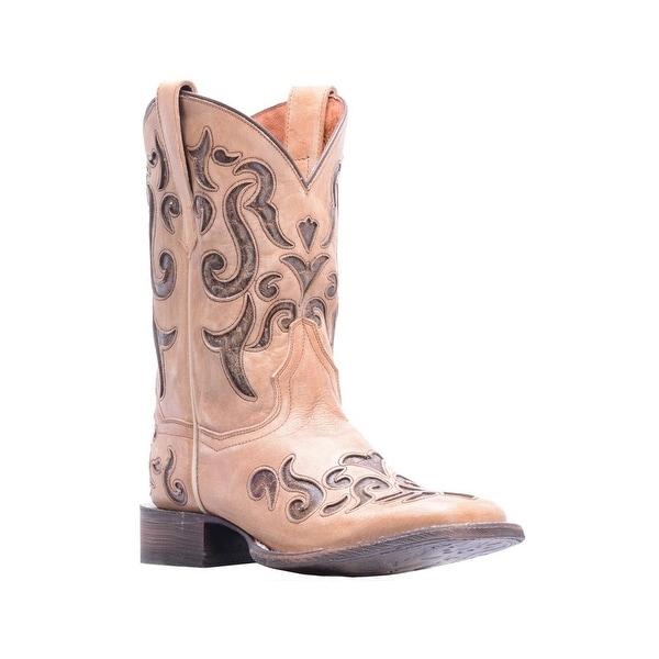 Dan Post Western Boots Womens Vanna Broad Square Bone