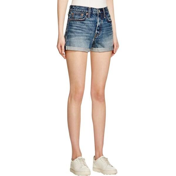 Levi's Womens Denim Shorts Denim Cuffed
