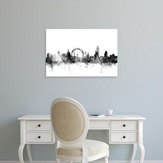 Easy Art Prints Michael Tompsett's 'London England Skyline' Premium Canvas Art