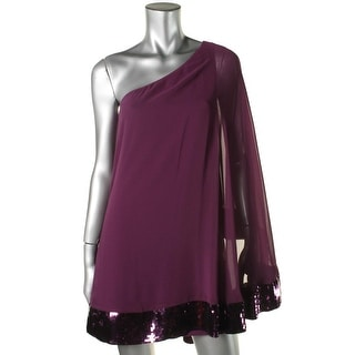 JB by Julie Brown Womens Chiffon Sequined Clubwear Dress - L