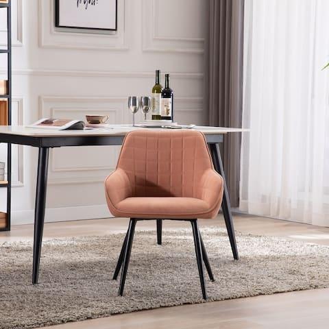 TiramisuBest Velvet Dining Room Chair Diamond Tufted Accent Chair