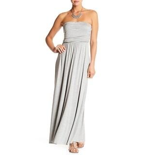 West Kei Heather Gray Womens Size Small S Strapless Maxi Dress