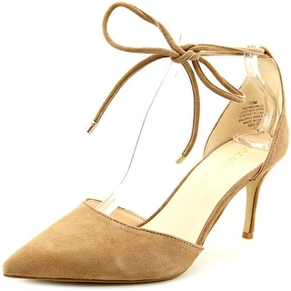 Nine West Mahmud Women  Pointed Toe Suede Nude Heels