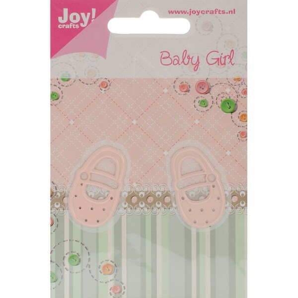 "Joy! Crafts Cut & Emboss Die -Baby Girl Shoes, .75""X1.25"""