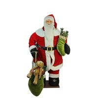 5' Life-Size Deluxe Animated Musical Inflatable Santa Claus Christmas Figure