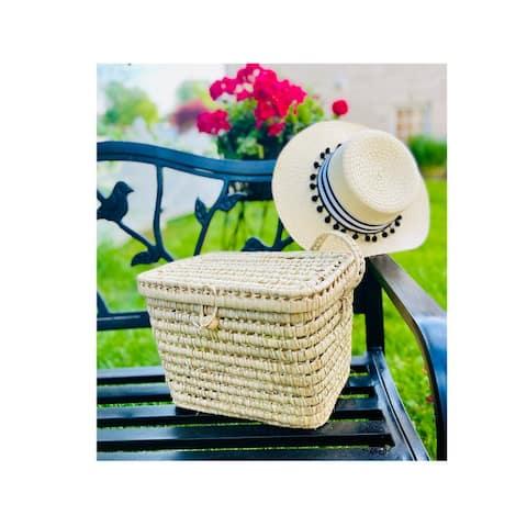 Countryside Natural Wicker French Market Basket Storage Basket