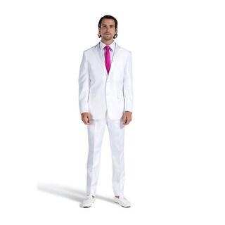 Porto Filo 2 Pcs White Tuxedo Slim-Fit Men's (Jacket+ Pant)