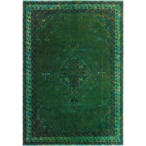 "Noori Rug Vintage Flora Green/Turquoise Rug - 6'7"" x 9'6"""