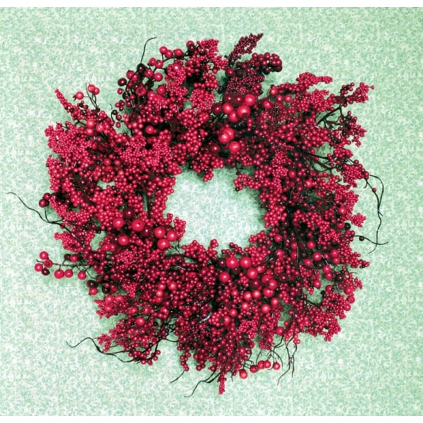 "22"" Festive Red Berry Artificial Christmas Wreath - Unlit"