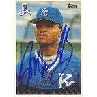Jon Nunnally Kansas City Royals 1995 Topps Rookie Year Candidates Autographed Card Rookie Card Th