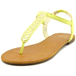 Material Girl Sage Women Open-Toe Synthetic Yellow Slingback Sandal