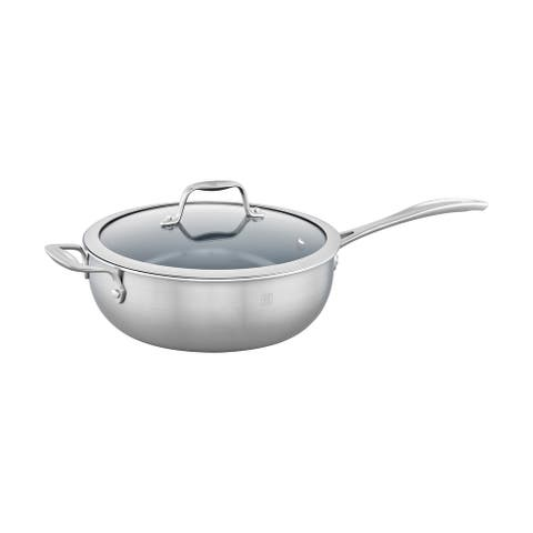 ZWILLING Spirit 3-ply 4.6-qt Stainless Steel Ceramic Nonstick Perfect Pan - Stainless Steel