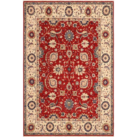 """Shabby Chic Ziegler Kareem Hand Knotted Area Rug -8'3"""" x 9'7"""" - 8 ft. 3 in. X 9 ft. 7 in."""
