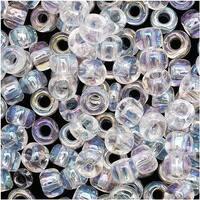 Toho Round Seed Beads 6/0 161 'Transparent Rainbow Crystal' 8 Gram Tube