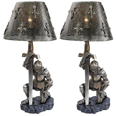 Design Toscano at Battle's End Sculptural Lamp - Set of 2
