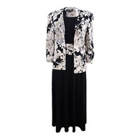 65330930cc64f Jessica Howard Women's Petite Floral-Print Dress and Jacket - Black/Ivory