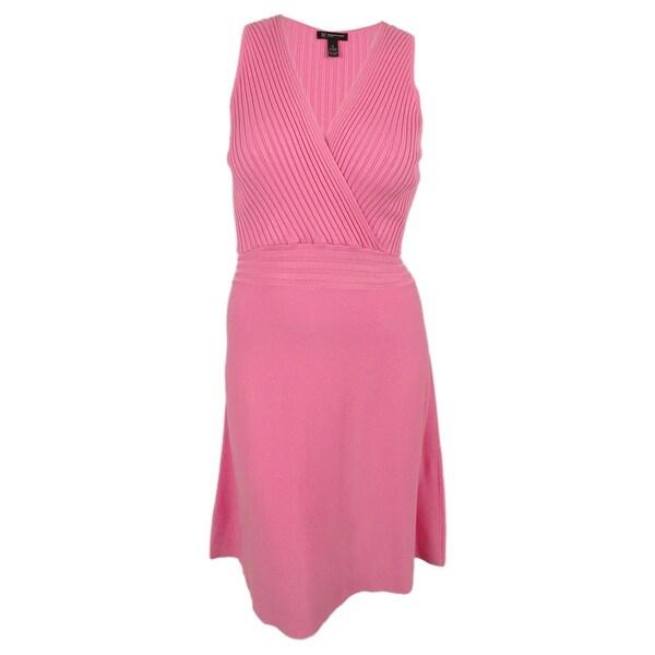 INC International Concepts Women's Knit Surplice Dress