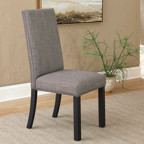 Copper Grove Lovenlund Black and Grey Side Chairs (Set of 2)
