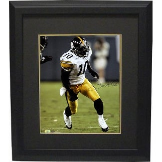 9a6324eea Shop Santonio Holmes signed Pittsburgh Steelers 16x20 Photo Custom Framed  white jersey Holmes Hologram - Free Shipping Today - Overstock - 19869515