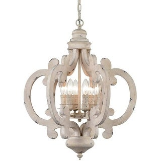 Link to Moneglia Distressed Wooden Chandelier 6-Light Vintage Hanging Light Fixture-Assembled Similar Items in Chandeliers