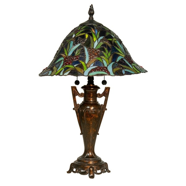 """24.5"""" Napa Valley Tiffany Table Hand Rolled Glass lamp - N/A"""