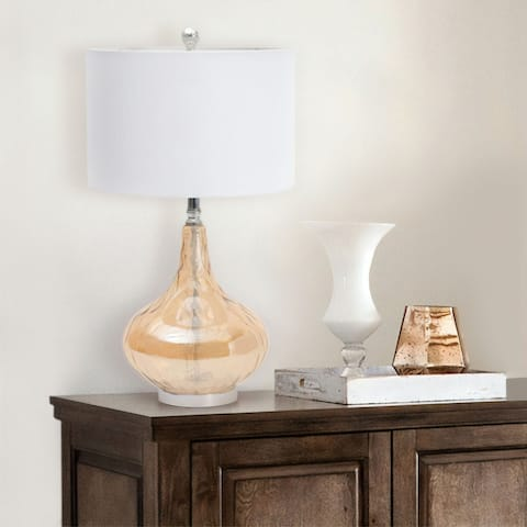 Abbyson Mona Glass Table Lamp