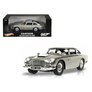 Aston Martin DB5 Silver James Bond 007 From Goldfinger Movie 1/18 Diecast Model Car by Hotwheels|https://ak1.ostkcdn.com/images/products/is/images/direct/f1fdc005f57011874f638e9ed2fac3615a985341/Aston-Martin-DB5-Silver-James-Bond-007-From-Goldfinger-Movie-1-18-Diecast-Model-Car-by-Hotwheels.jpg?impolicy=medium