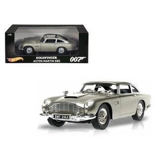 Aston Martin DB5 Silver James Bond 007 From Goldfinger Movie 1/18 Diecast Model Car by Hotwheels