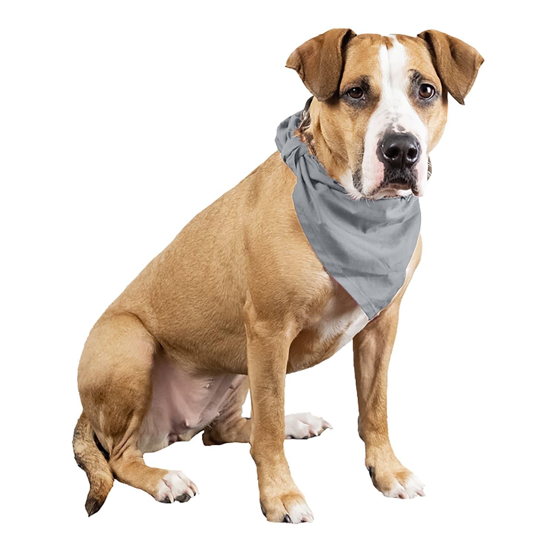 Qraftsy Plain Cotton Pets 5 Pcs Dogs Bandana Triangle Shape Large One Size Overstock 30603710