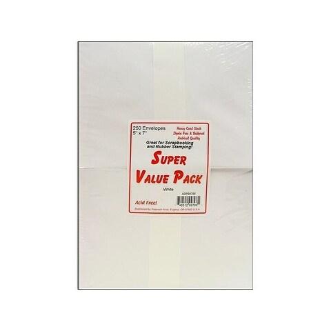 Super Value Envelope Pack 5x7 250pc White