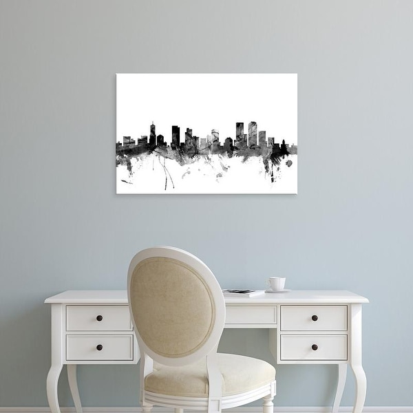 Easy Art Prints Michael Tompsett's 'Denver Colorado Skyline' Premium Canvas Art