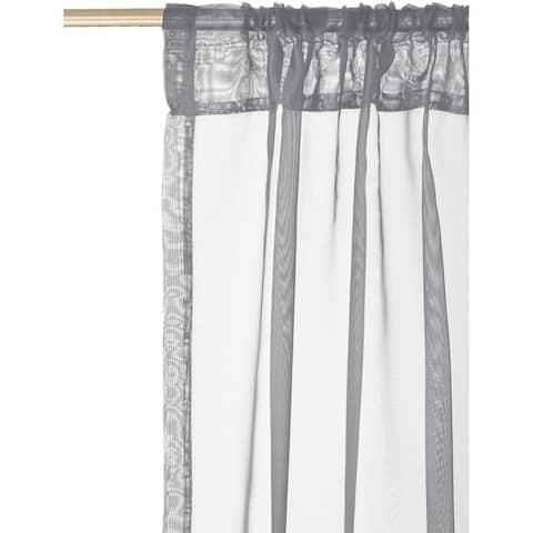 """Curtain Panel Sheer 2Pk 86L Grey - 86"""" x 54"""""""