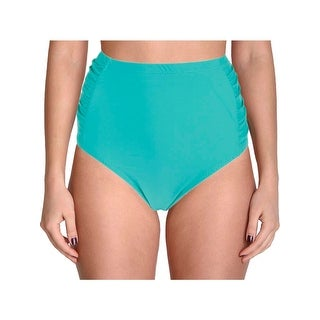 Jessica Simpson Womens Plus Desert Fringe Ruched Swim Bottom Separates
