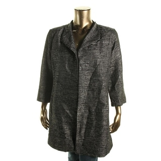 Eileen Fisher Womens Jacquard High Collar Top Coat - XL
