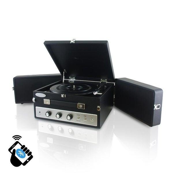 Pyle Retro Vintage Classic Style Bluetooth Turntable - Black