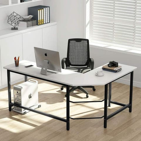 Tribesigns Modern L Shaped Desk Corner Computer Study Home Office