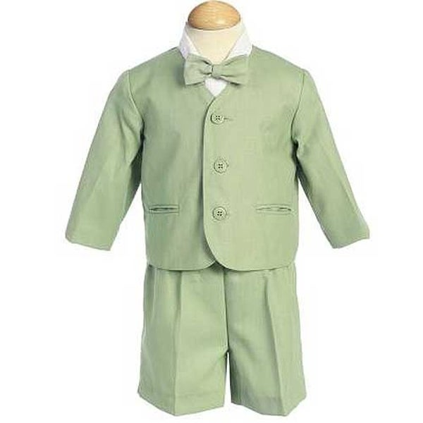 497220cea0dc Shop Boys Green Eton Short Formal Ring Bearer Easter Suit 12M-4T - Free  Shipping On Orders Over $45 - Overstock - 23082425