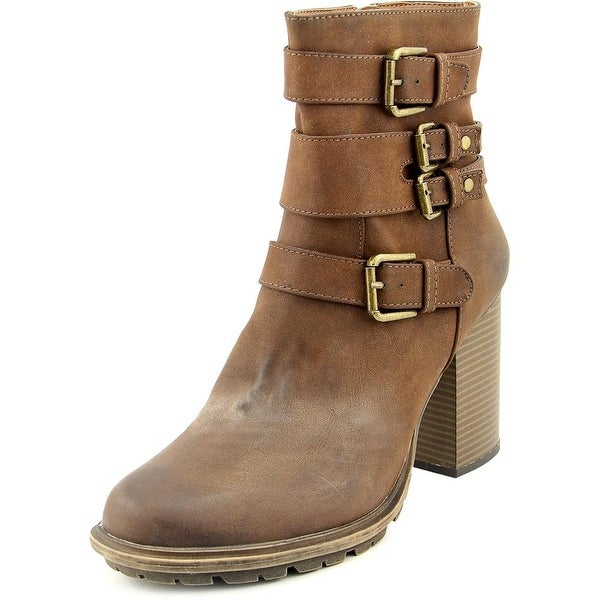 Seven Dials Scooter Women Round Toe Synthetic Brown Ankle Boot