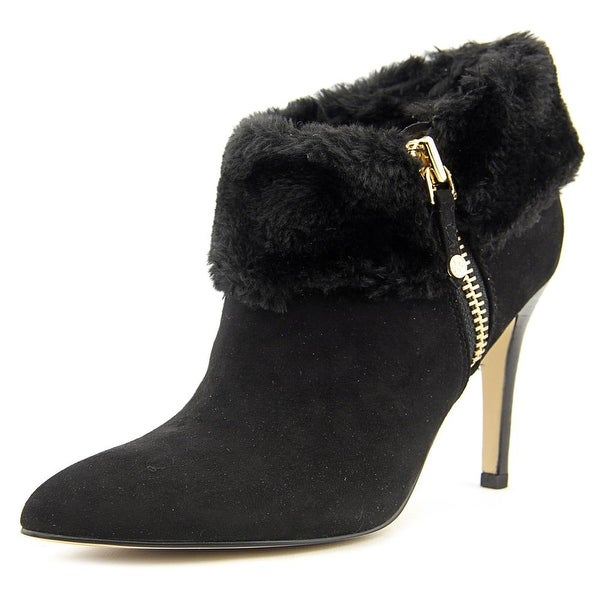 Marc Fisher Cahoot 2 Women  Pointed Toe Suede Black Ankle Boot
