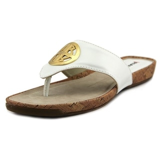 Rialto Calista Women Open Toe Leather White Sandals
