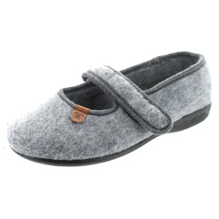 Sc Home Collection Womens Felt Closed Toe Mary Jane Slippers